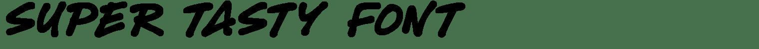 Super Tasty Font