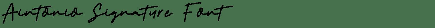 Aintonio Signature Font