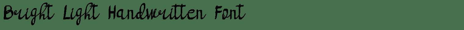 Bright Light Handwritten Font
