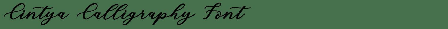 Cintya Calligraphy Font