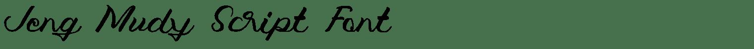Jeng Mudy Script Font