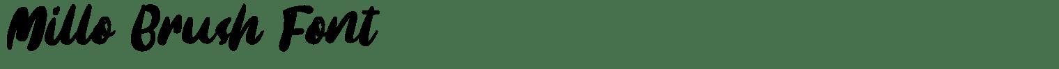 Millo Brush Font