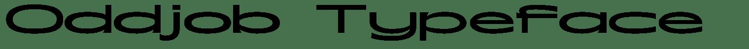 Oddjob Typeface