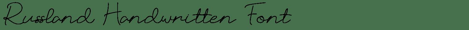 Russland Handwritten Font
