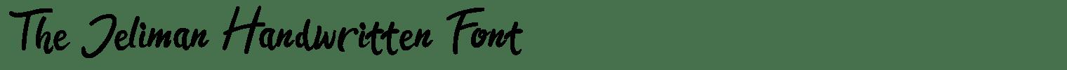 The Jeliman Handwritten Font