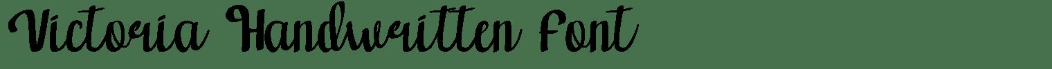 Victoria Handwritten Font