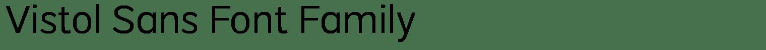 Vistol Sans Font Family