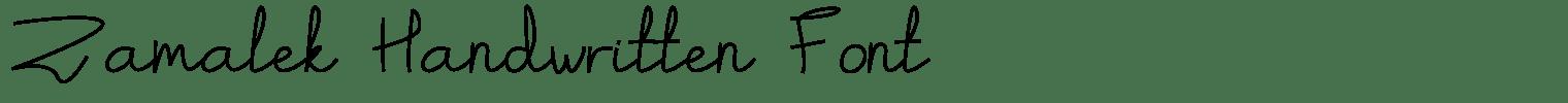 Zamalek Handwritten Font