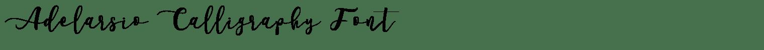 Adelarsio Calligraphy Font