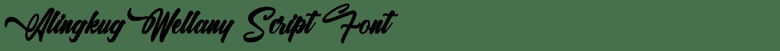 Alingkug Wellany Script Font