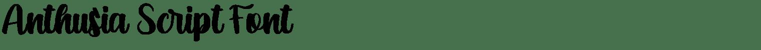 Anthusia Script Font
