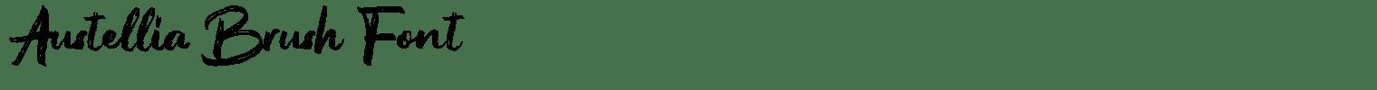 Austellia Brush Font