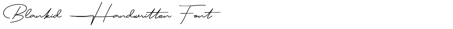 Blankid Handwritten Font