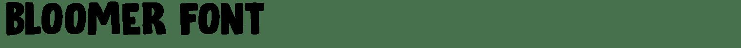 Bloomer Font