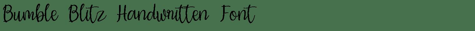 Bumble Blitz Handwritten Font