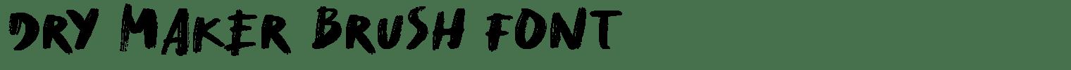 Dry Maker Brush Font
