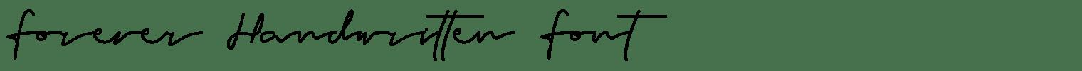 Forever Handwritten Font