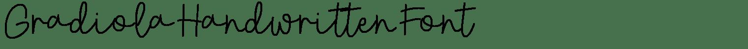Gradiola Handwritten Font