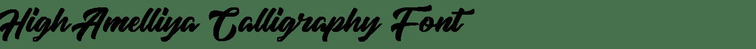 High Amelliya Calligraphy Font