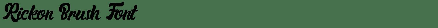 Rickon Brush Font