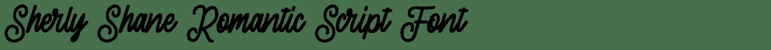 Sherly Shane Romantic Script Font