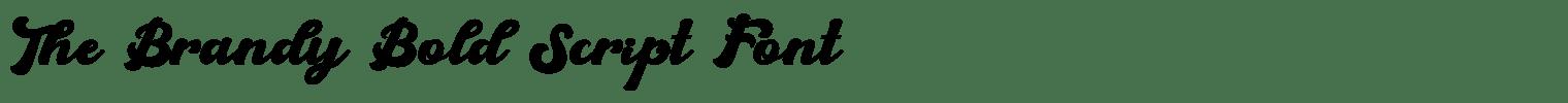 The Brandy Bold Script Font