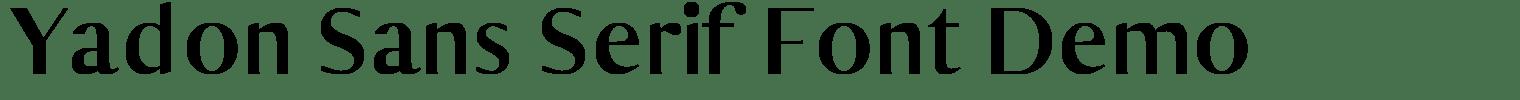 Yadon Sans Serif Font Demo