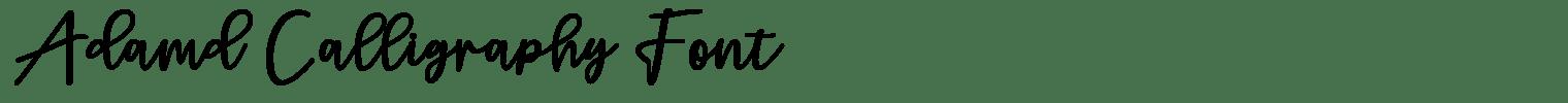Adamd Calligraphy Font