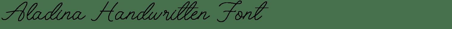 Aladina Handwritten Font