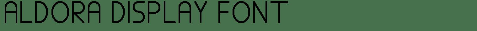 ALDORA DISPLAY FONT