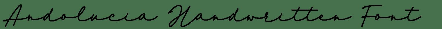 Andolucia Handwritten Font