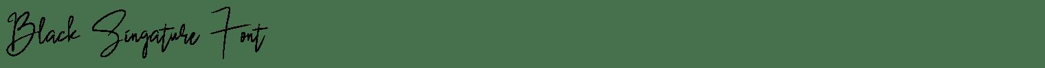 Black Singature Font