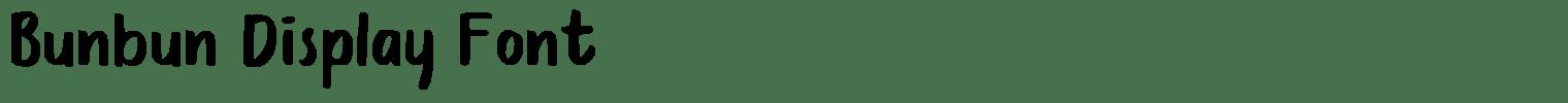 Bunbun Display Font