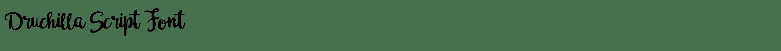 Druchilla Script Font