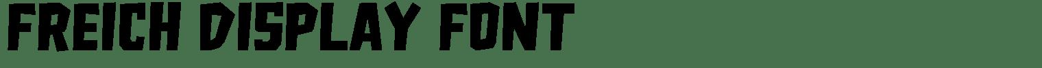 Freich Display Font