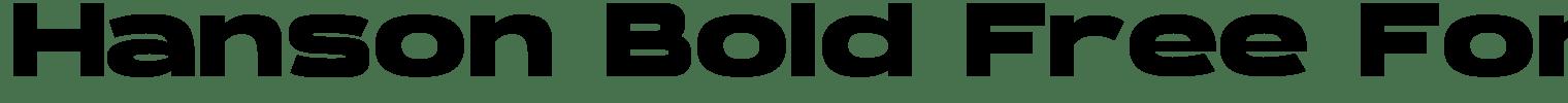 Hanson Bold Free Font