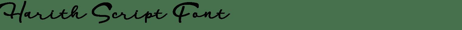 Harith Script Font