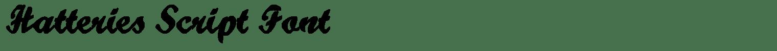 Hatteries Script Font