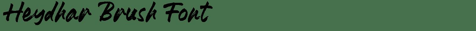 Heydhar Brush Font