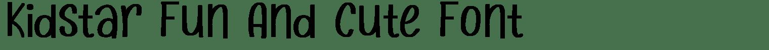 Kidstar Fun And Cute Font