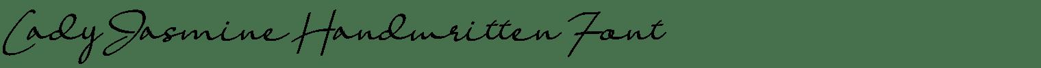Lady Jasmine Handwritten Font