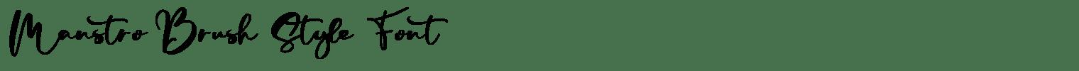 Manstro Brush Style Font