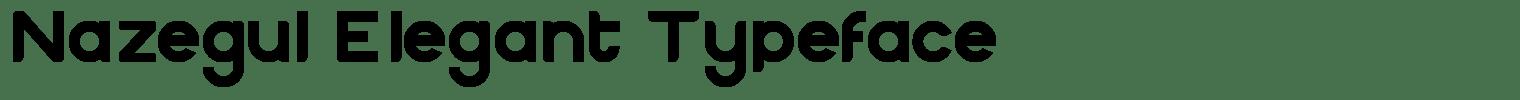 Nazegul Elegant Typeface