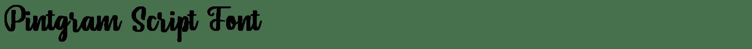 Pintgram Script Font