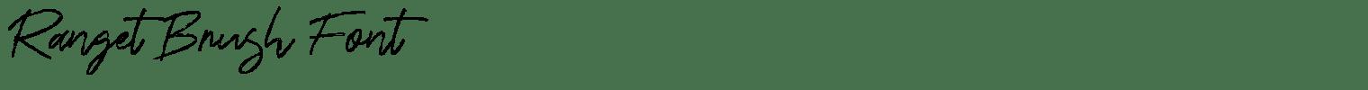 Ranget Brush Font