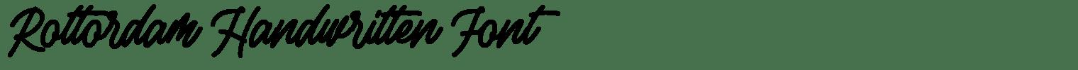 Rottordam Handwritten Font