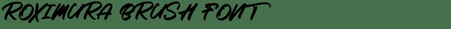 Roximura Brush Font