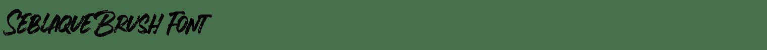 Seblaque Brush Font
