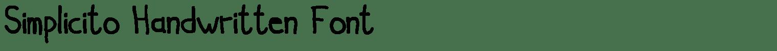 Simplicito Handwritten Font