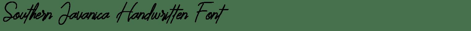 Southern Javanica Handwritten Font